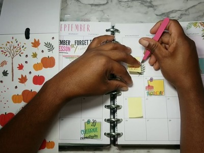 Plan With Me - September Monthly - Happy Planner