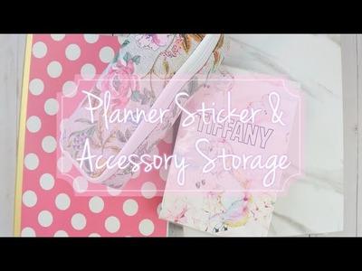 Planner Sticker and Accessory Storage