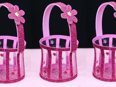 Waste Plastic Bottle Basket | Best Out of Waste | Plastic bottle craft idea