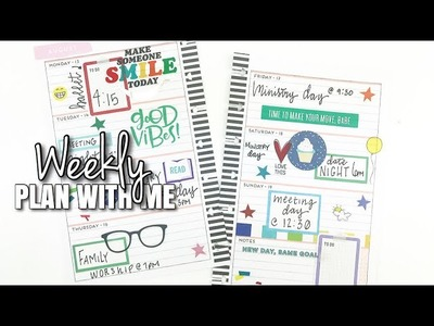 Weekly Plan With Me! | Mini Happy Planner August 13th - 19th | At Home With Quita