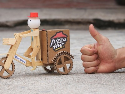 Wow! Amazing DIY Robot Pizza Delivery - Electric Bike