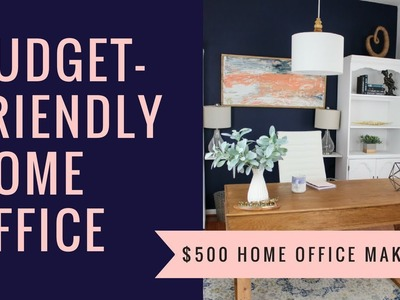 Budget Friendly Home Office Makeover + DIY Decor   Budget Decor   Before & After