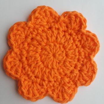 Coasters - 100% cotton yarn - washable and dryable - elegant and practical - set of 4