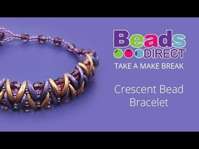 Crescent Bead Bracelet | Take a Make Break with Beads Direct