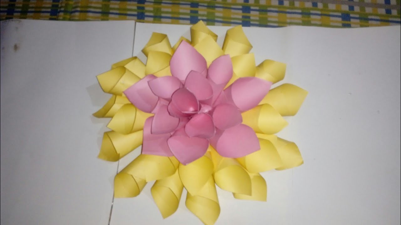 Dahlia Flower Made By Chart Paper