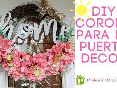 DIY CORONA PARA LA PUERTA.wreath for door