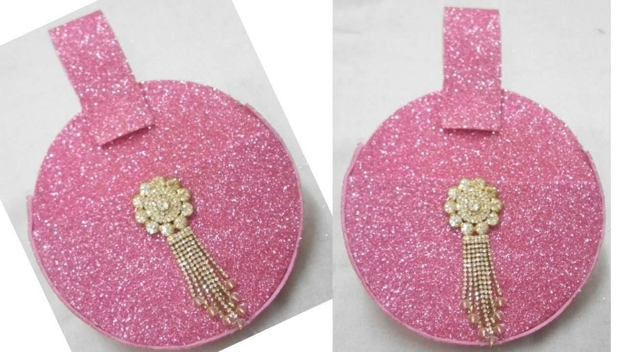 DIY no sew glitter foam sheet clutch.purse! very beautiful and attractive purse.clutch