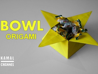 DIY origami BOWL