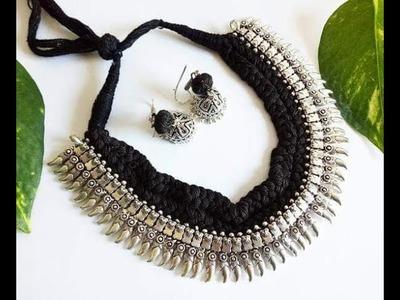 Latest Black Thread Necklace Jewelry Designs | Black Thread chain models
