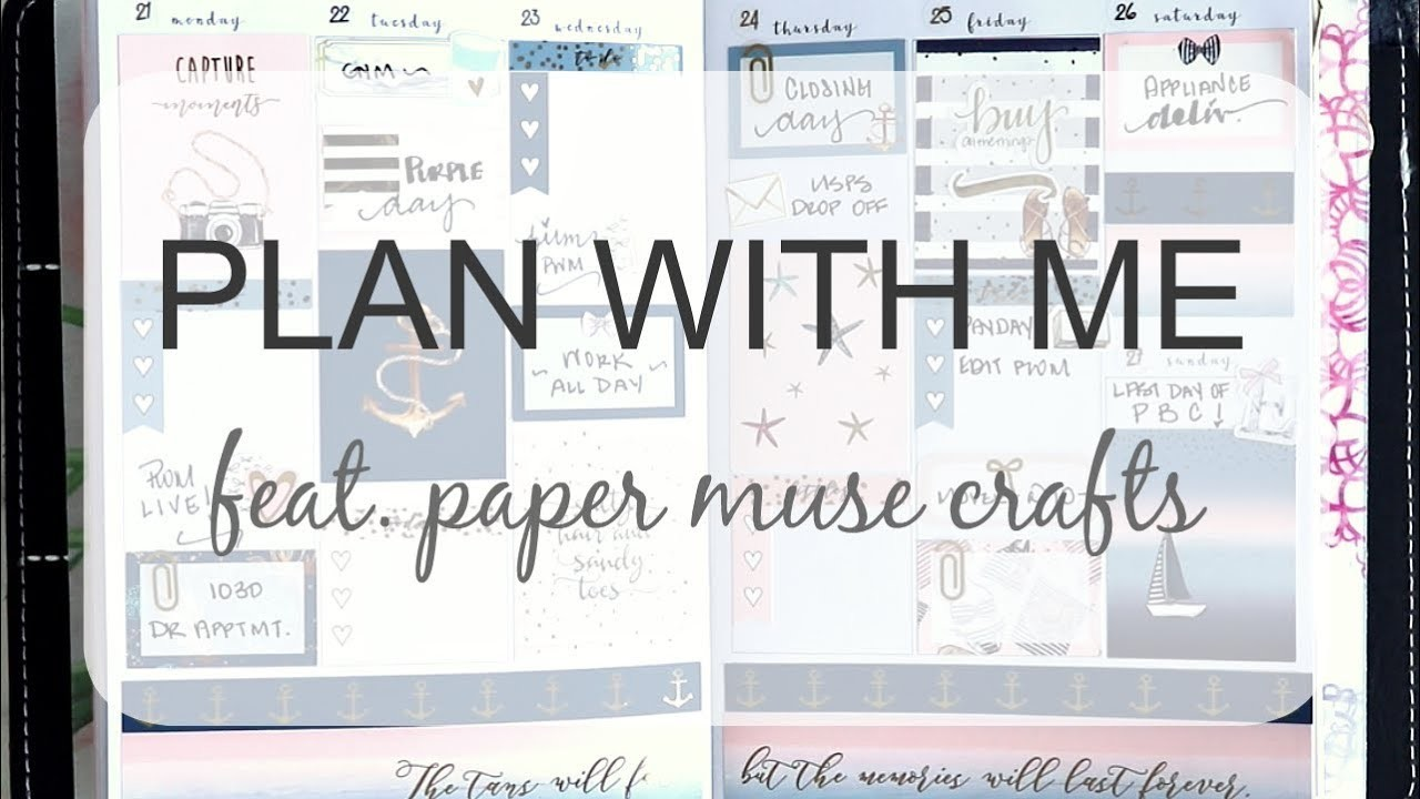 PLAN WITH ME FEAT  PAPER MUSE CRAFTS | Capture Moments