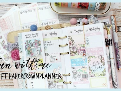 PLAN WITH ME ll PERSONAL PLANNER ll FT PAPER CROWN PLANNER ll PRINTABLE STICKER KIT