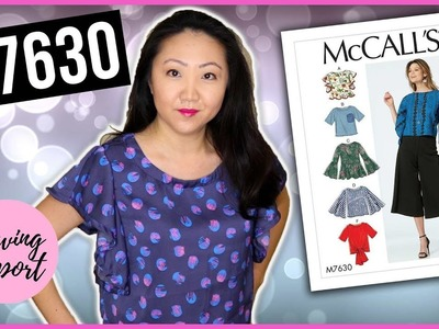 Sew With Me! McCall's M7630 Misses' Tops ???? Easy Sewing Pattern | SEWING REPORT