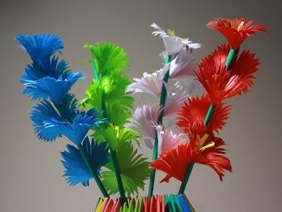 Simple room decor flower sticks Origami - Tutorial #30