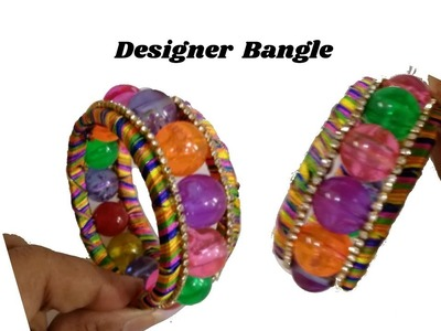 Trendy designer's bangle | Making with marble beads