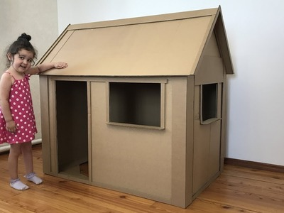 A kids house Out of Cardboard Box