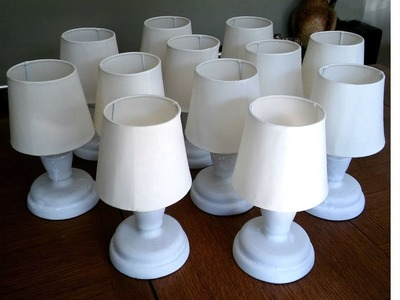 Bar. table lamp - making the lampshade from scratch - part 1 of 2