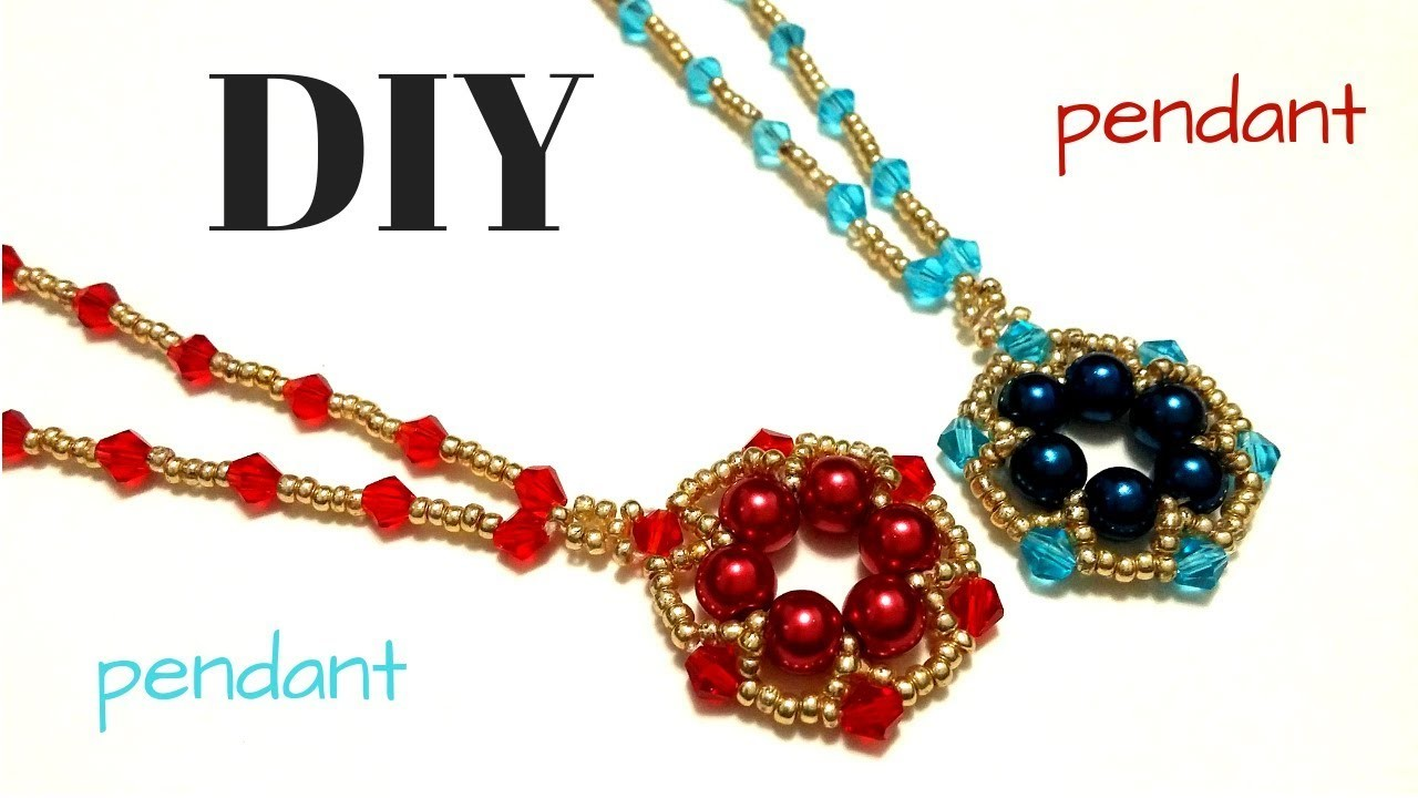 Beading tutorial. How to make pendants. Beaded jewelry