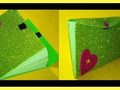 Craft paper and Foam sheet idea. DIY Make A Wallet