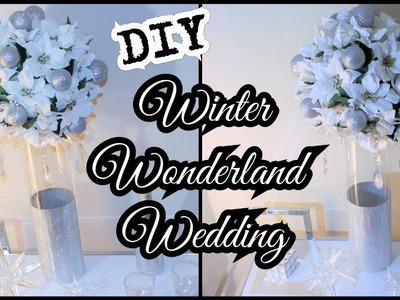 DIY BLING GLAMOROUS WINTER WONDERLAND WEDDING | MICHAEL'S | DOLLAR TREE | CHANELLE NOVOSEY