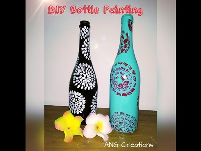 DIY Bottle Painting by Asha Neog | ANG Creations