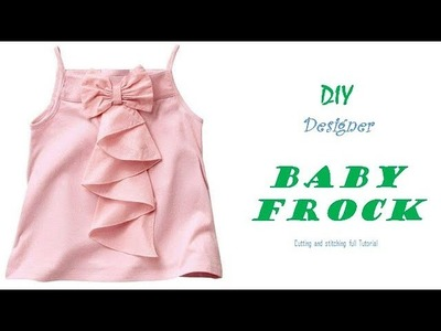 DIY Designer BABY FROCK cutting and Stitching full tutorial.pinz creation