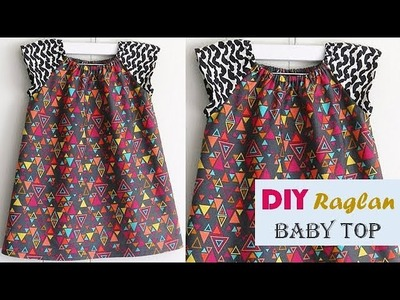 DIY Designer Raglan Baby Top Cutting And Stitching Full Tutorial