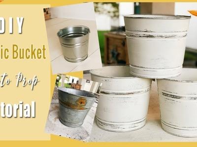 DIY- Rustic Bucket Photo Prop- Bucket Tutorial
