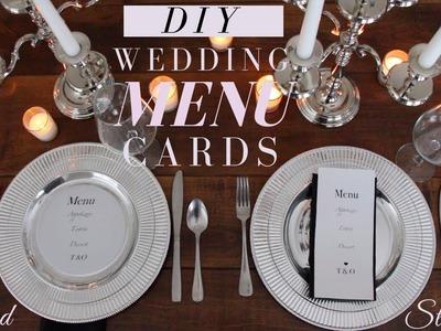 DIY Wedding Menu Cards | Make Your Own Wedding Menu Cards, and SAVE | Wedding DIY