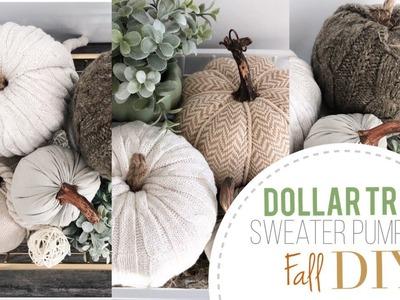 Dollar Tree Sweater Pumpkin | DIY Dollar Tree | Easy  | No sew