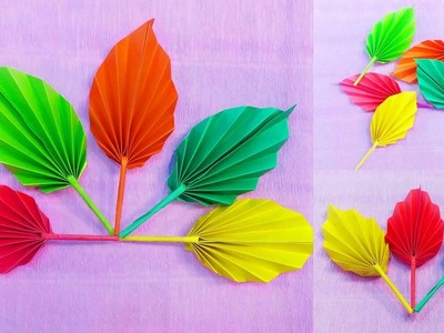 Easy Origami DIY Paper Leaves making Instruction || DIY Crafts Tutorial || Art Of Learning ||
