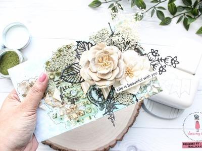 Embellish envelopes with Mallika using Banner Punch | Dress My Craft