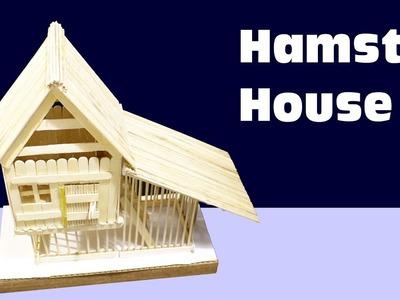 Hamster House DIY easy - Popsicle Stick House - DIY Hamster Cage