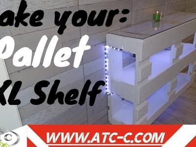 How to build an XL pallet shelf. DIY Modern Design