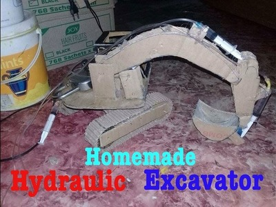 How to make a Hydraulic Excavator [JCB ] at home