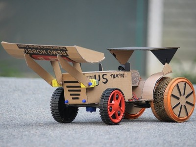 How To Make a tractor - RC bulldozer with tractor