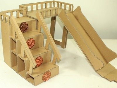 How To Make Amazing Cat House From Cardboard || Home Made PETS PLAYGROUND