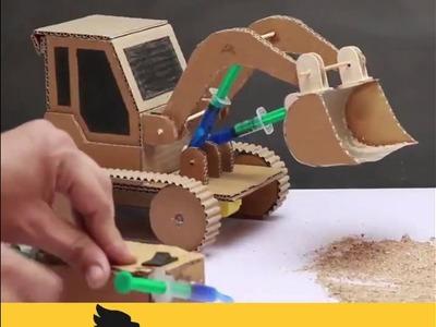 How to make  JCB BullDozer Simple DIY Jugad videos