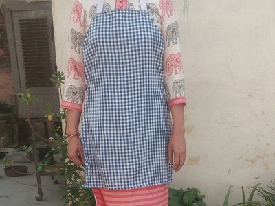 How to Make Kitchen Apron By Old Kurti ll suit ( Hindi Tutorials )