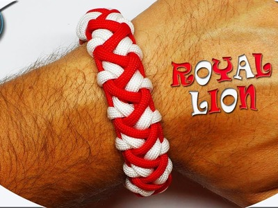 How to Make Paracord Bracelet Royal Lion DIY Paracord Tutorial for Beginners