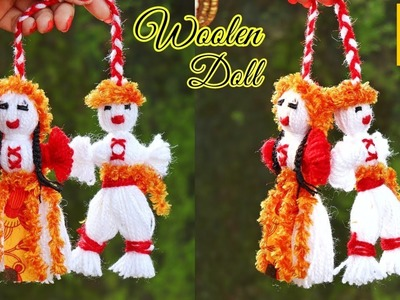 How to make wool yarn Doll step by step at home | DIY  woolen craft idea