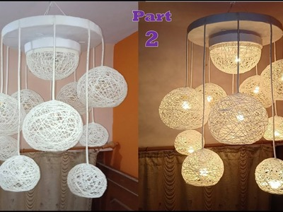 Make a Home Made Wrapped Balloon Lamp Part 2| Easy Home Made Lamp by Crazy Art 4 U
