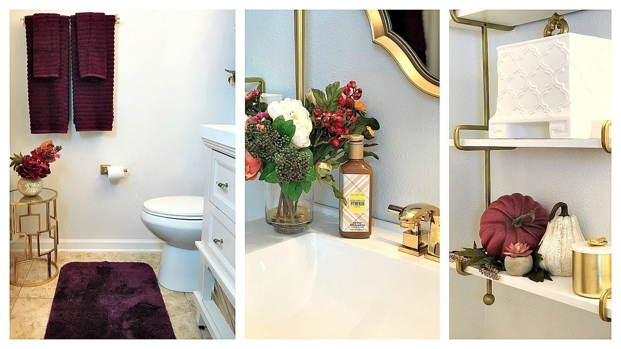 NEW! Fall Clean & Decorate With Me | Guest Bathroom & Front Porch Entry Ideas