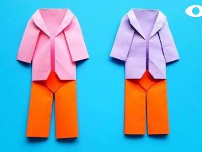Origami Coat ????,  Easy Origami Tutorial Seri