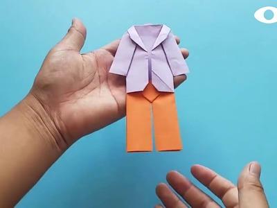 Origami Pants , Easy Origami Tutorial Seri