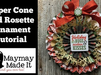 Paper Cone and Rosette Ornament
