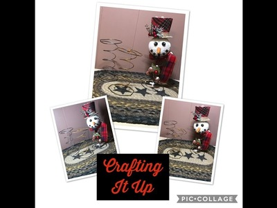Project Share Craft Show Ideas and Share - Rusty Bedspring Snowman ⛄️