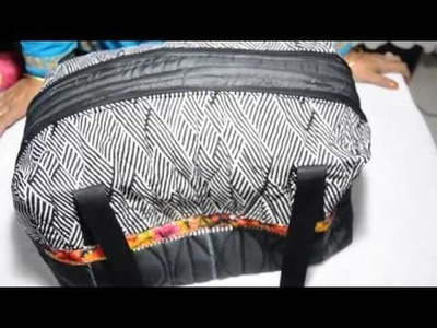 एक सप्ताह के लिए बड़ा बैग बनाये. HOW TO MAKE BIG SIZE DOUBLE ZIPPER TRAVEL BAG