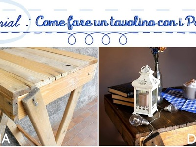 TUTORIAL | Come fare un tavolino da colazione con i Pallet ( DIY PALLET BREAKFAST TABLE PROJECT)