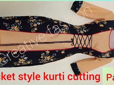Beautiful double layer jacket style kurti tutorial part 2