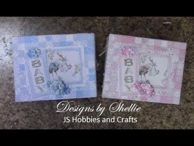 BEGINNERS MINI ALBUM TUTORIAL PART 1 BABY GIRL OR BOY SHELLIE GEIGLE JS HOBBIES AND CRAFTS